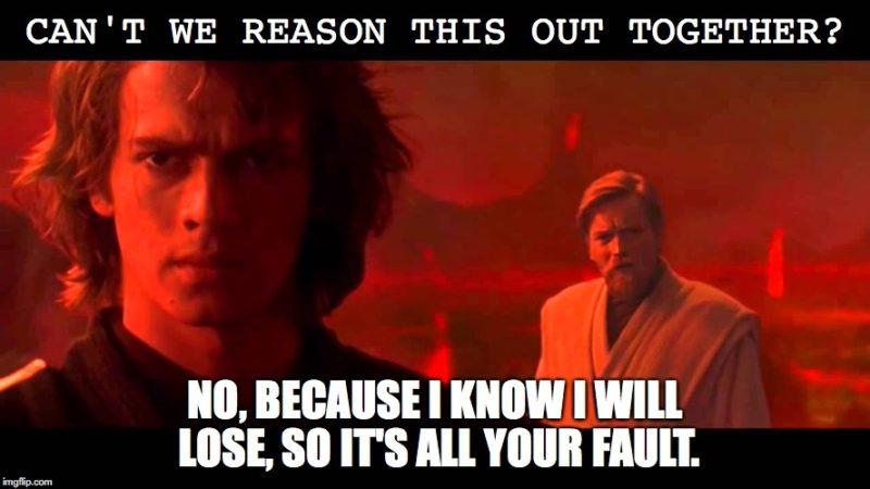 Anakin Liberal meme - The Duran